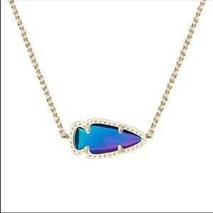 Kendra Scott Black Iridescent Skylie Necklace